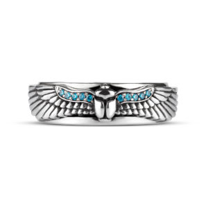 ring scarab egypt silver