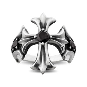 salvation christian cross ring black