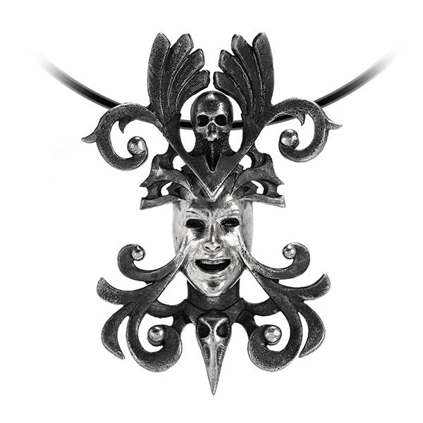 Dark Goddess Pendant mask skull ornament vampire
