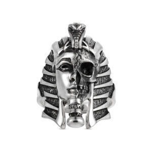 Pharaoh Egypt ring skull face big