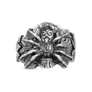 Spider_nest ring skull