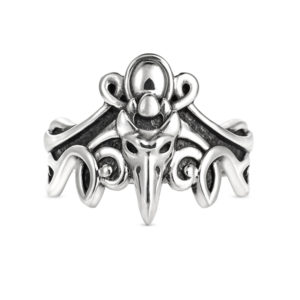 night rustle elven silver ring