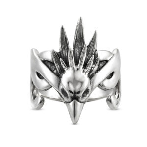 sky spirit bird freedom elven silver ring