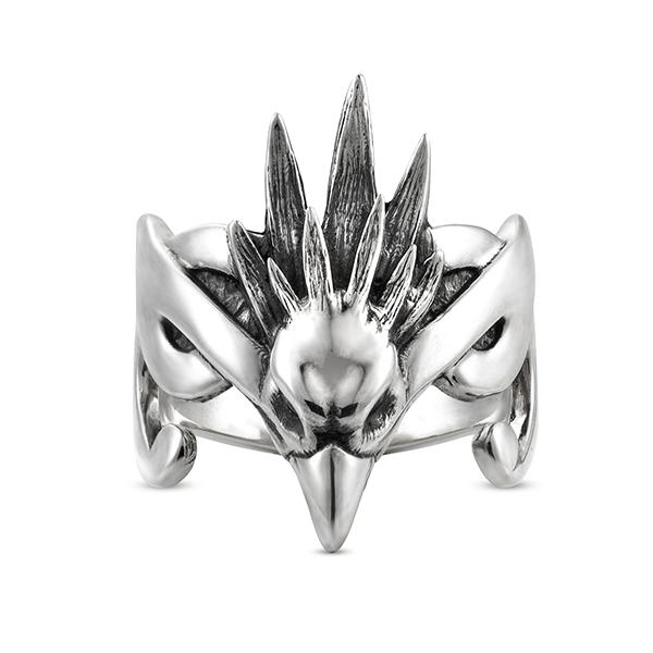 sky spirit bird freedom elven silver ring